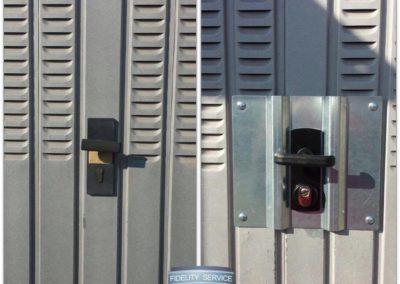 aggiornamento della sicurezza della porta garage -defender+placca antiscasso