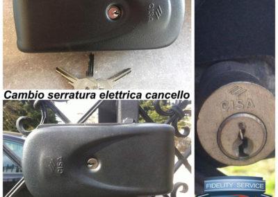 cambio serratura elettrica cancello