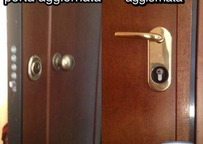 conversione serratura e aggionamento della sicurezza della porta