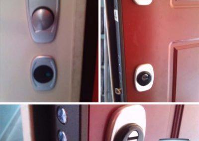 instalazione serratura a codice e cambio cilindro