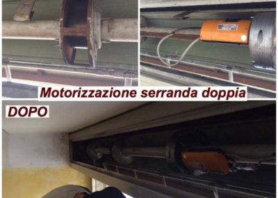motorizzazione serranda e cambio molle 1