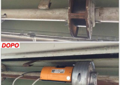 motorizzazione serranda e cambio molle 2