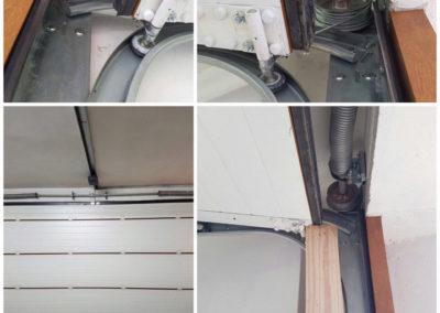 riparazione porta sezionale, cambio filo tirante e molla