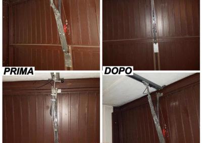 riparazopne porta garage. sistemazione braccio motore